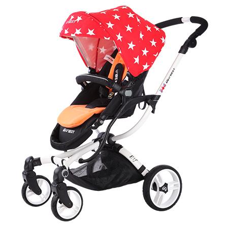 星星婴儿车高景观婴儿推车欧洲宝宝超轻便可躺可坐折叠手推车夏季