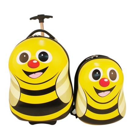 儿童可爱动物母子旅行箱包套装 黄