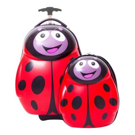 儿童可爱动物母子旅行箱包套装 红