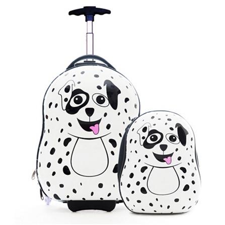 儿童可爱动物母子旅行箱包套装 白