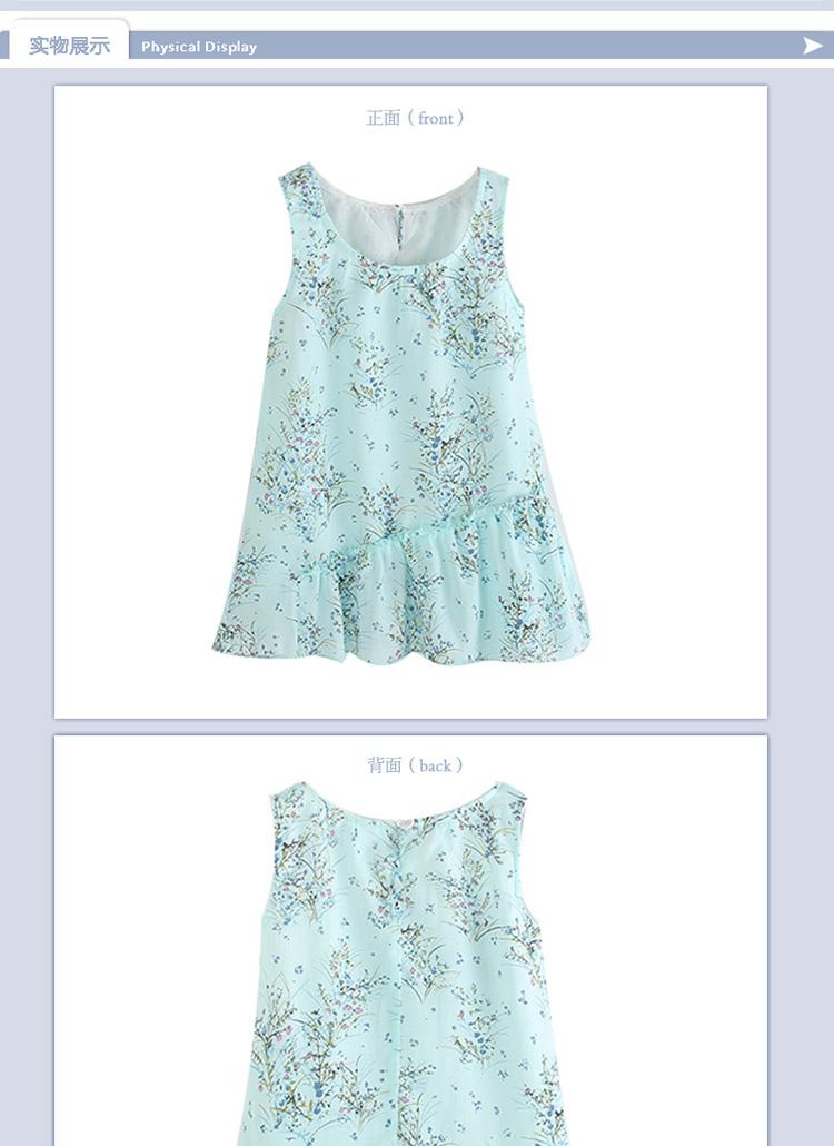 小清新兒童連衣裙 公主裙 綠