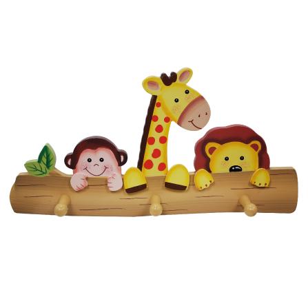 阳光动物园彩绘儿童挂衣钩 彩
