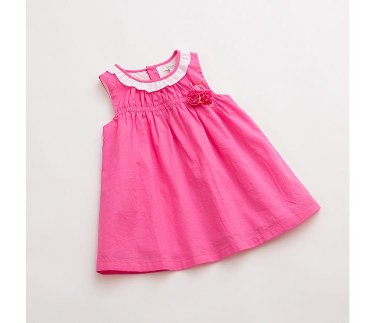 宝宝婴儿连衣裙纯棉裙子15321 黄
