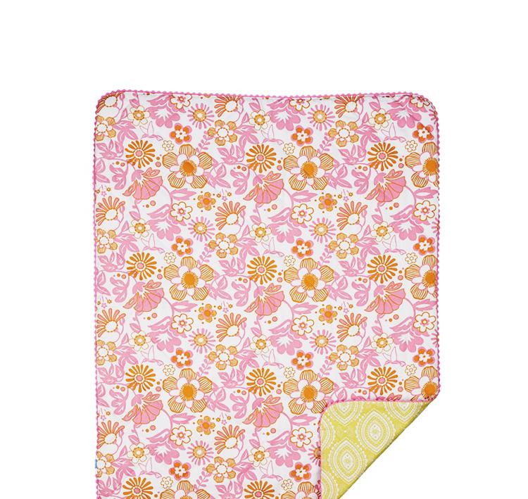 living63 粉色花纹棉被 95x110cm【价格 特卖 图片100