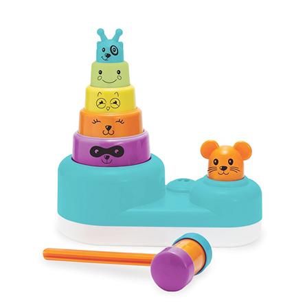 小老鼠益智打击玩具