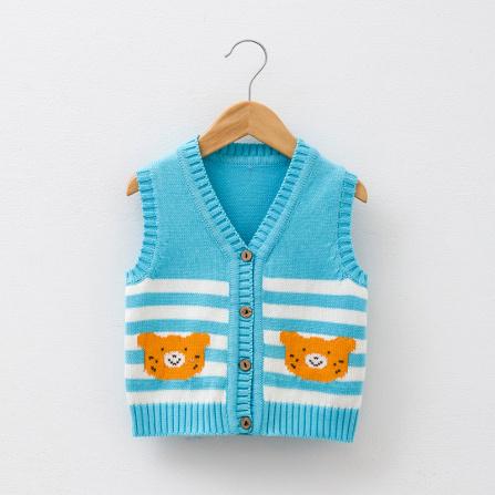 宝宝针织衫马甲 蓝