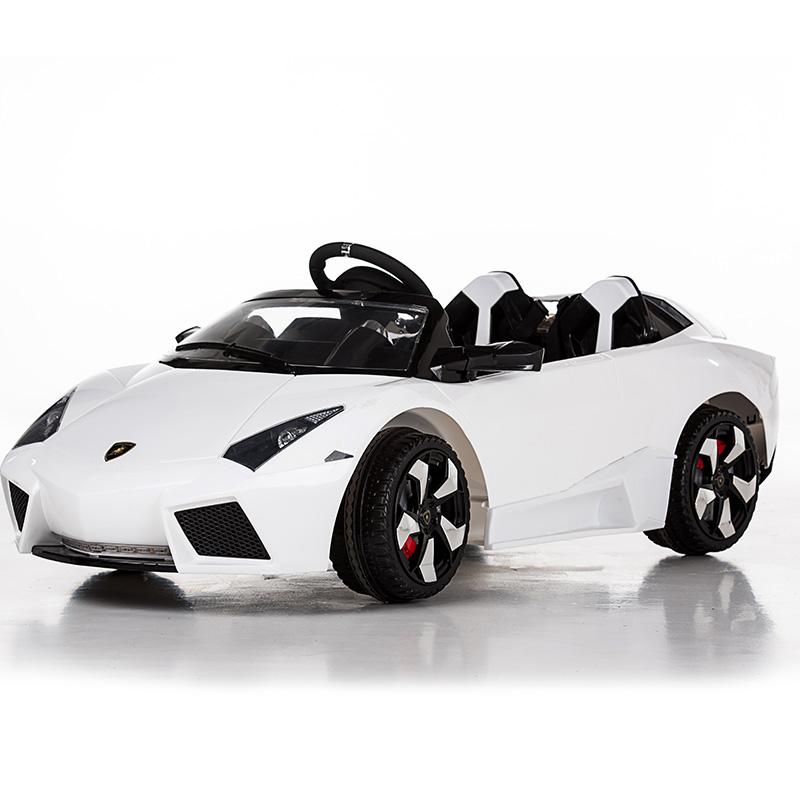 儿童四轮汽车童车双驱玩具车兰博基尼 白