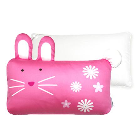 幼儿兔子枕头套装 枕套57*50cm+枕芯50*30cm