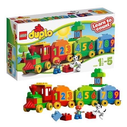 得宝大颗粒拼装积木学习数字火车10558