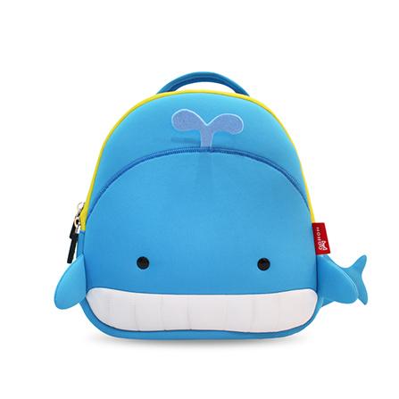 男女童3d时尚动物造型鲸鱼背包学生书包 蓝