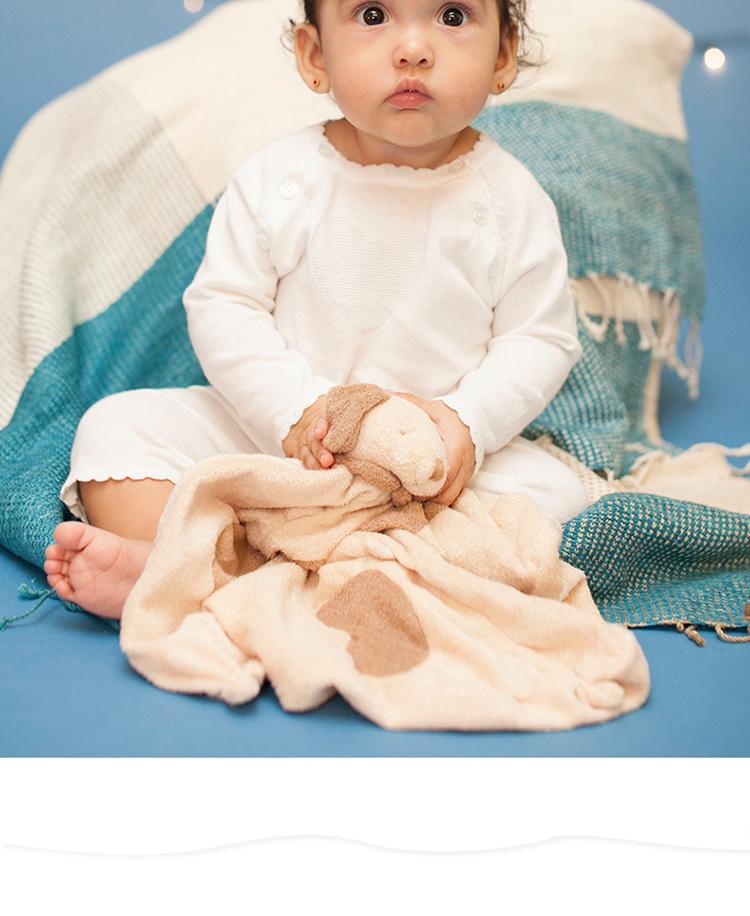 婴儿超级柔软可爱大头公仔系列安抚巾 小熊