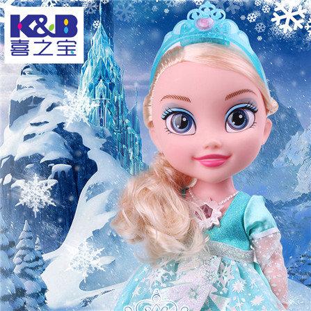 冰雪公主会说话的智能芭比娃娃对话儿童玩具 冰雪公主