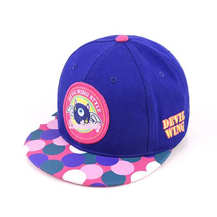 经典彩印logo标志儿童棒球帽 蓝