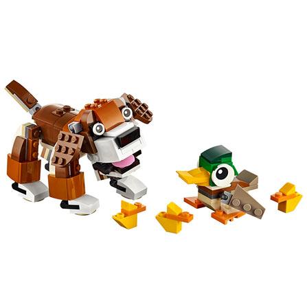 创意百变系列公园动物积木玩具拼插 31044