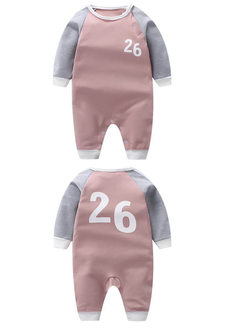 婴儿连体衣春秋宝宝爬爬服0-1岁新生儿衣服纯棉初生儿睡衣连体内衣