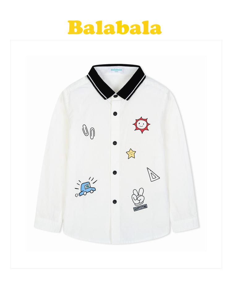 新款小童宝宝儿童衬衣英伦风潮 品牌:巴拉巴拉 balabala 分类:衬衫 商