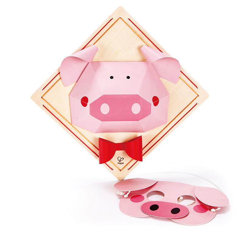 手工diy立体折纸画-小猪