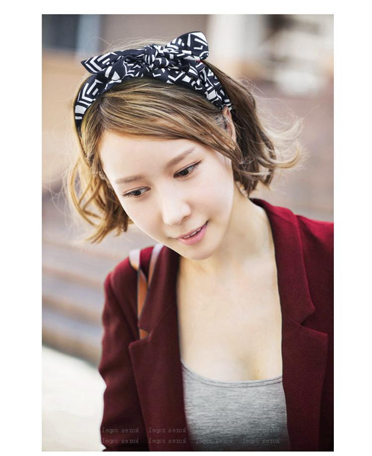 中餐厅同款兔耳朵洗脸发带韩国头饰品简约头巾发饰森女系头箍发箍