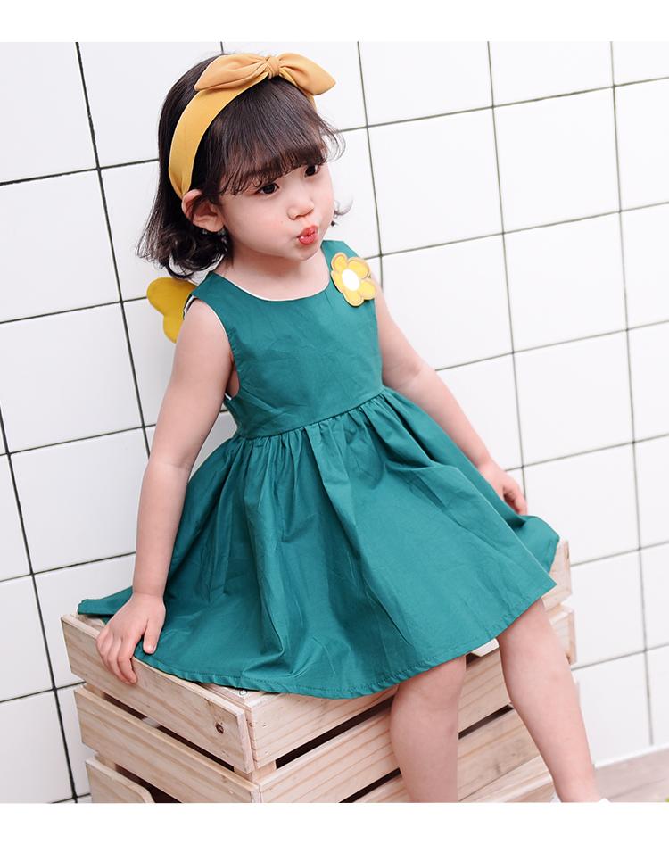 女童夏季新款翅膀连衣裙小童时尚可爱公主裙子