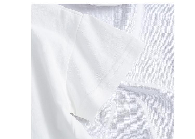 2018夏季新款纯色卡通涂鸦短袖t恤男女童可爱小狗上衣 品牌:初心多咪