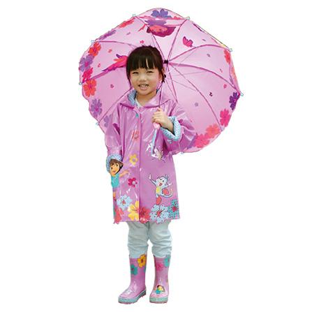 【kidorable 可爱多 朵拉系列 雨衣(紫红色)】 - 蜜芽