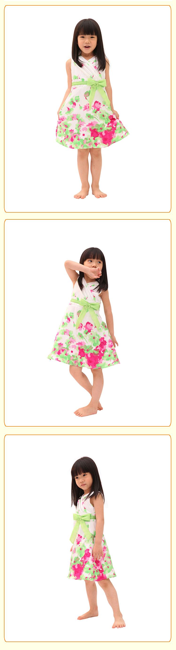 蝴蝶结甜美可爱公主连衣裙
