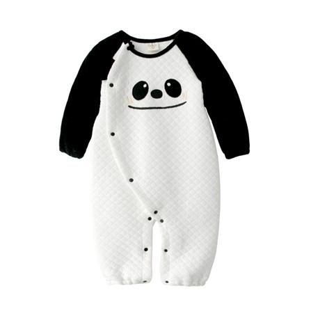 春秋宝宝衣服可爱保暖空气棉动物造型长袖连身衣-黑白熊猫