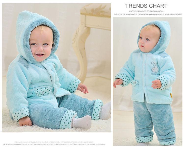 魔法贝贝 男女宝宝冬季婴儿衣服 3-6个月新生儿套装棉衣