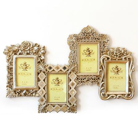 欧式镂空浮雕四联组合树脂雕花相框照片墙