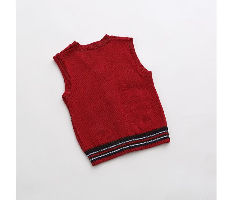儿童婴儿针织马甲15929