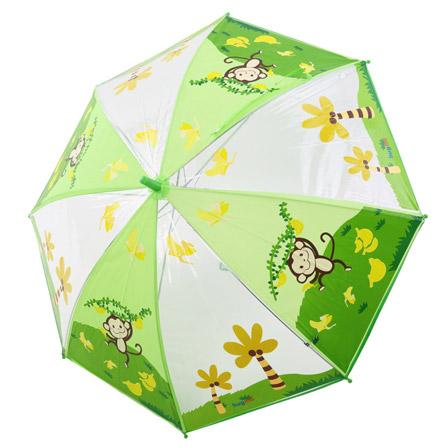 儿童动物图案环保雨伞 猴子
