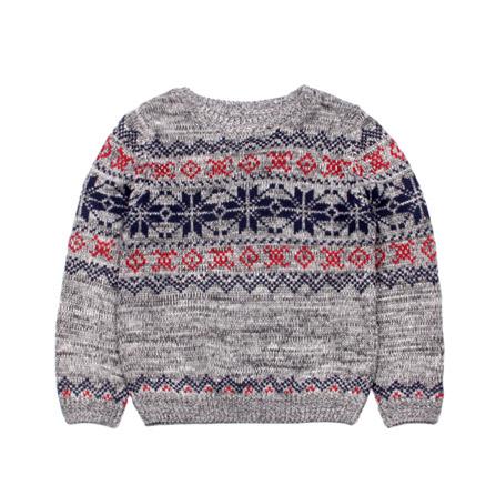 儿童毛衣新款时尚花纹羊毛衫