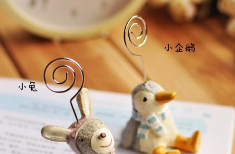 fujifilm 富士 拍立得小动物摆件名片创意便条夹子