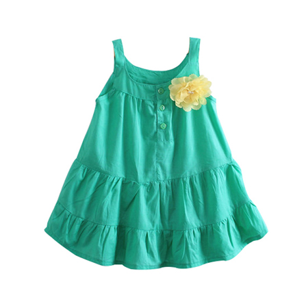兒童連衣裙 公主裙 綠