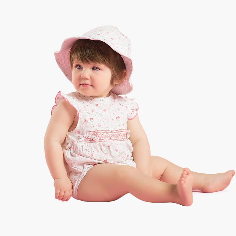 女宝宝婴儿夏装碎花短袖连体衣db2401 碎花