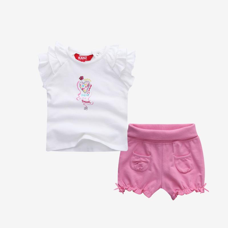 0-1岁婴儿针织套装 粉