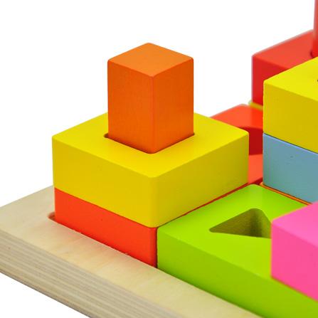思维发散系列形状叠叠高积木玩具